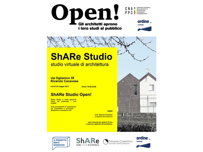 Share studio vi invita all'evento open studi aperti 2019
