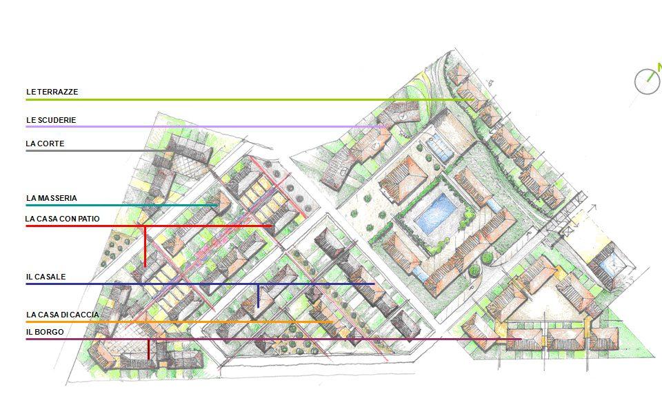share studio architettura complesso residenziale centro servizi latina