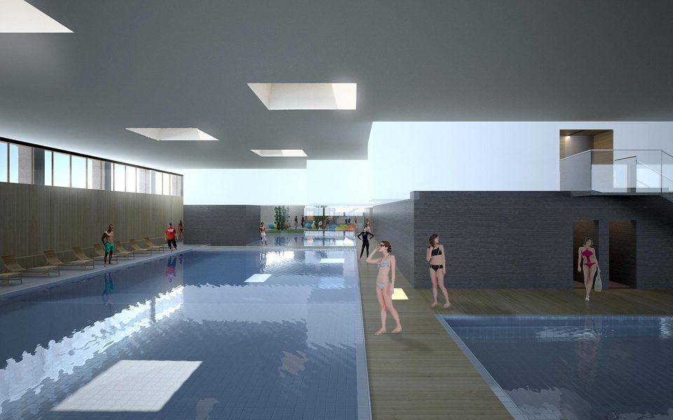 share studio architettura concorso centro benessere ricreativo val d'aosta