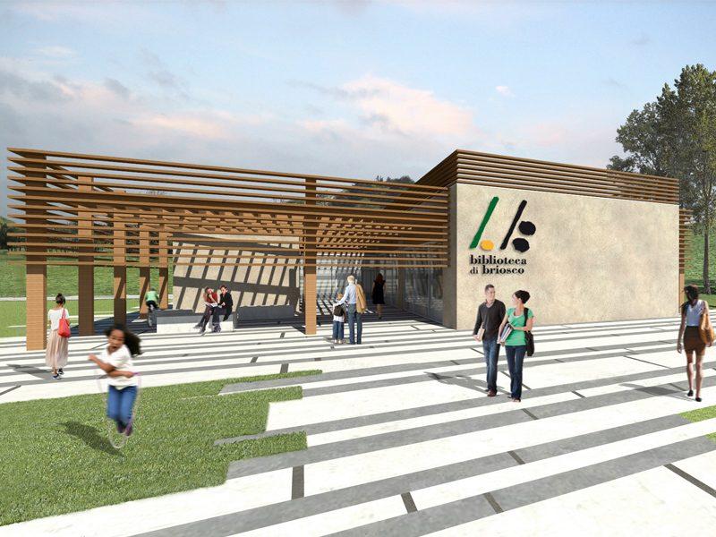 share studio architettura concorso nuova biblioteca comunale briosco news