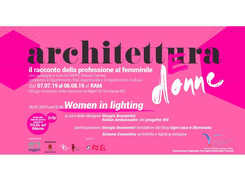 share studio architettura evento women in lighting rassegna architettura e donne