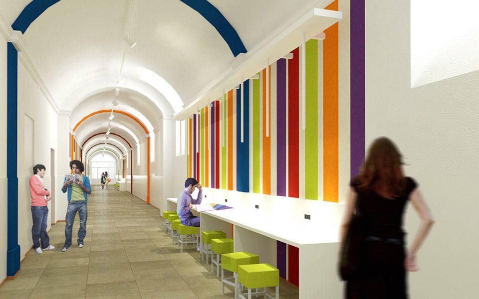 share studio architettura progetto riqualificazione vittoria international school torino