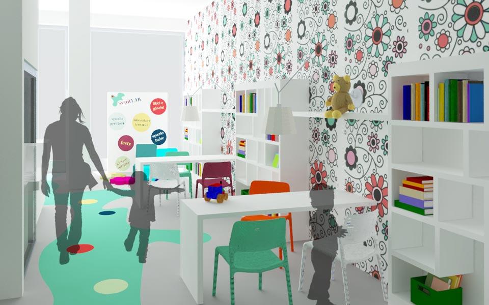 share studio architettura progetto spazio ricreativo per bambini a bari bar