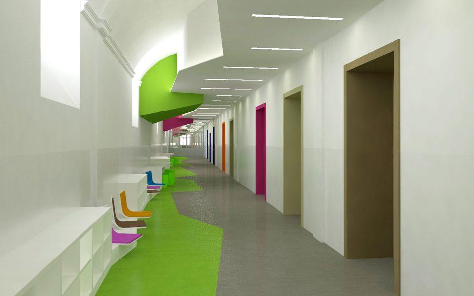 share studio architettura restyling arredo interni edificio scolastico torino